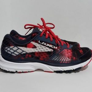 Brooks Launch 3 Running Shoes Red Blue & White